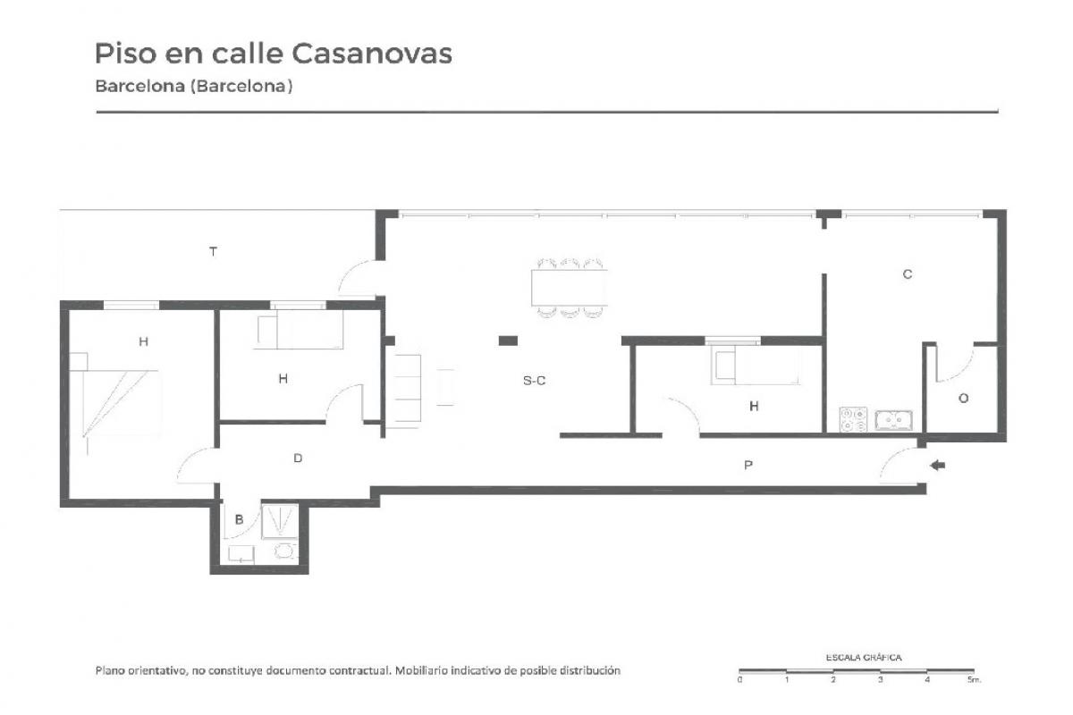 Piso en venta en Barcelona, Barcelona, Calle Casanovas, 223.000 €, 3 habitaciones, 1 baño, 83 m2