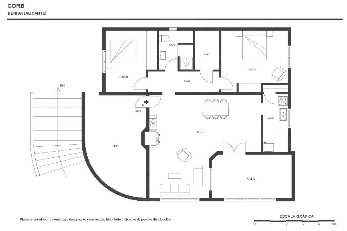 Casa en venta en Benissa, Alicante, Calle Corb, 206.000 €, 2 habitaciones, 1 baño, 118 m2