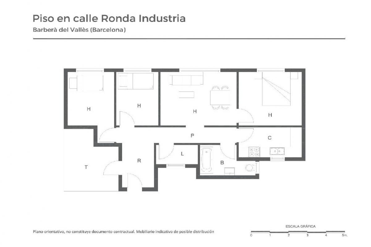 Piso en venta en Barberà del Vallès, Barcelona, Calle Industria, 191.500 €, 3 habitaciones, 1 baño, 76 m2