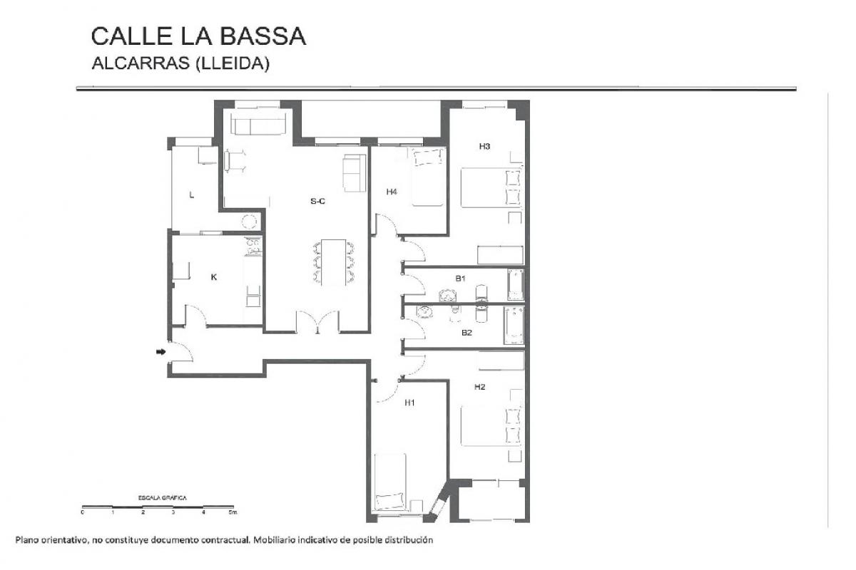 Piso en venta en Alcarràs, Lleida, Calle la Bassa, 103.000 €, 4 habitaciones, 2 baños, 170 m2