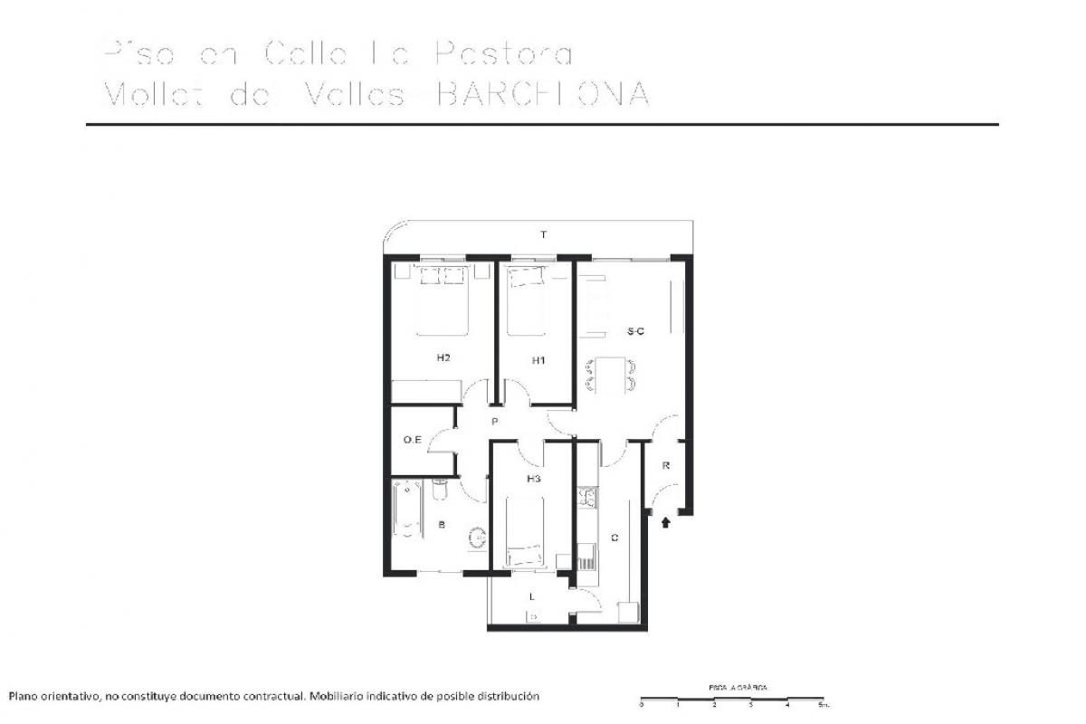 Piso en venta en Can Ramoneda, Rubí, Barcelona, Calle la Pastora, 178.000 €, 3 habitaciones, 1 baño, 92 m2