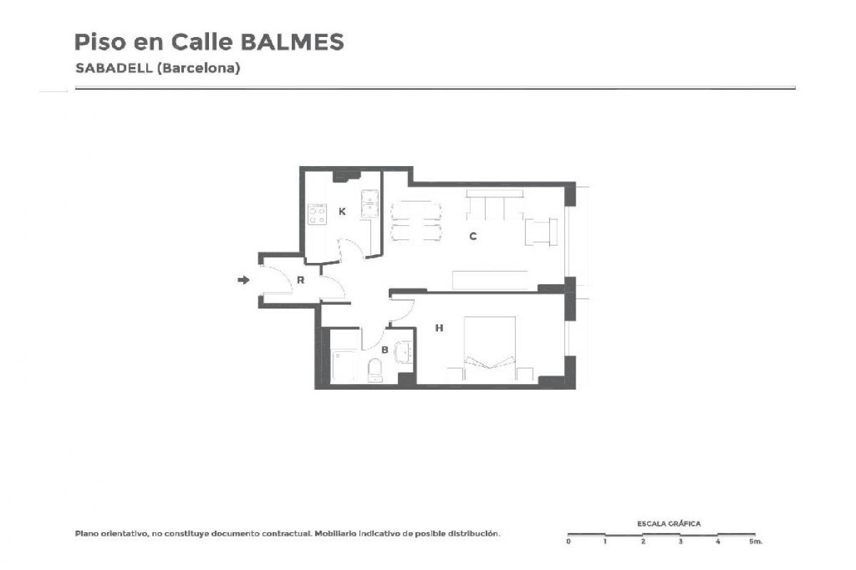 Piso en venta en Torre-romeu, Sabadell, Barcelona, Calle Balmes, 151.500 €, 1 habitación, 1 baño, 57 m2