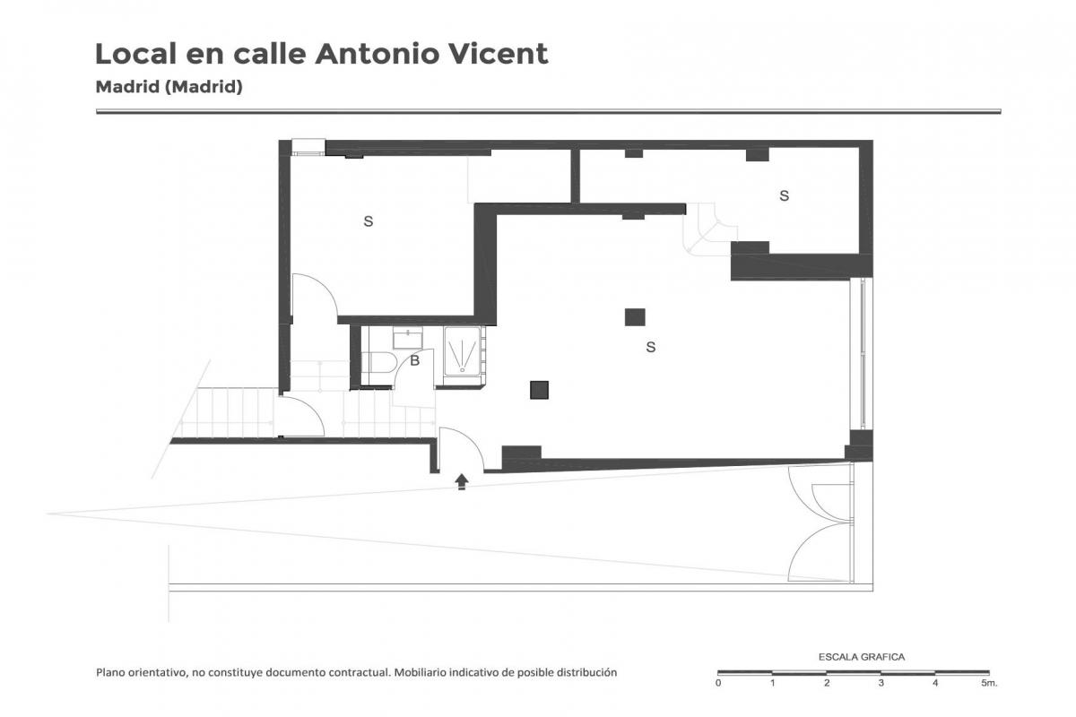 Local en venta en Carabanchel, Madrid, Madrid, Calle Antonio Vicent, 49.500 €, 91 m2