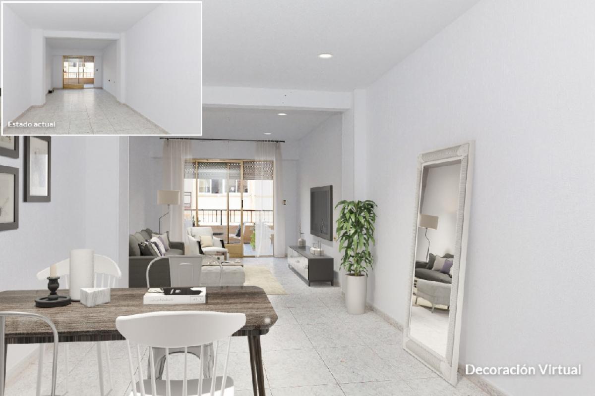 Piso en venta en Barrio los Tubos, San Vicente del Raspeig/sant Vicent del Raspeig, Alicante, Calle Bailen, 135.000 €, 4 habitaciones, 2 baños, 133 m2