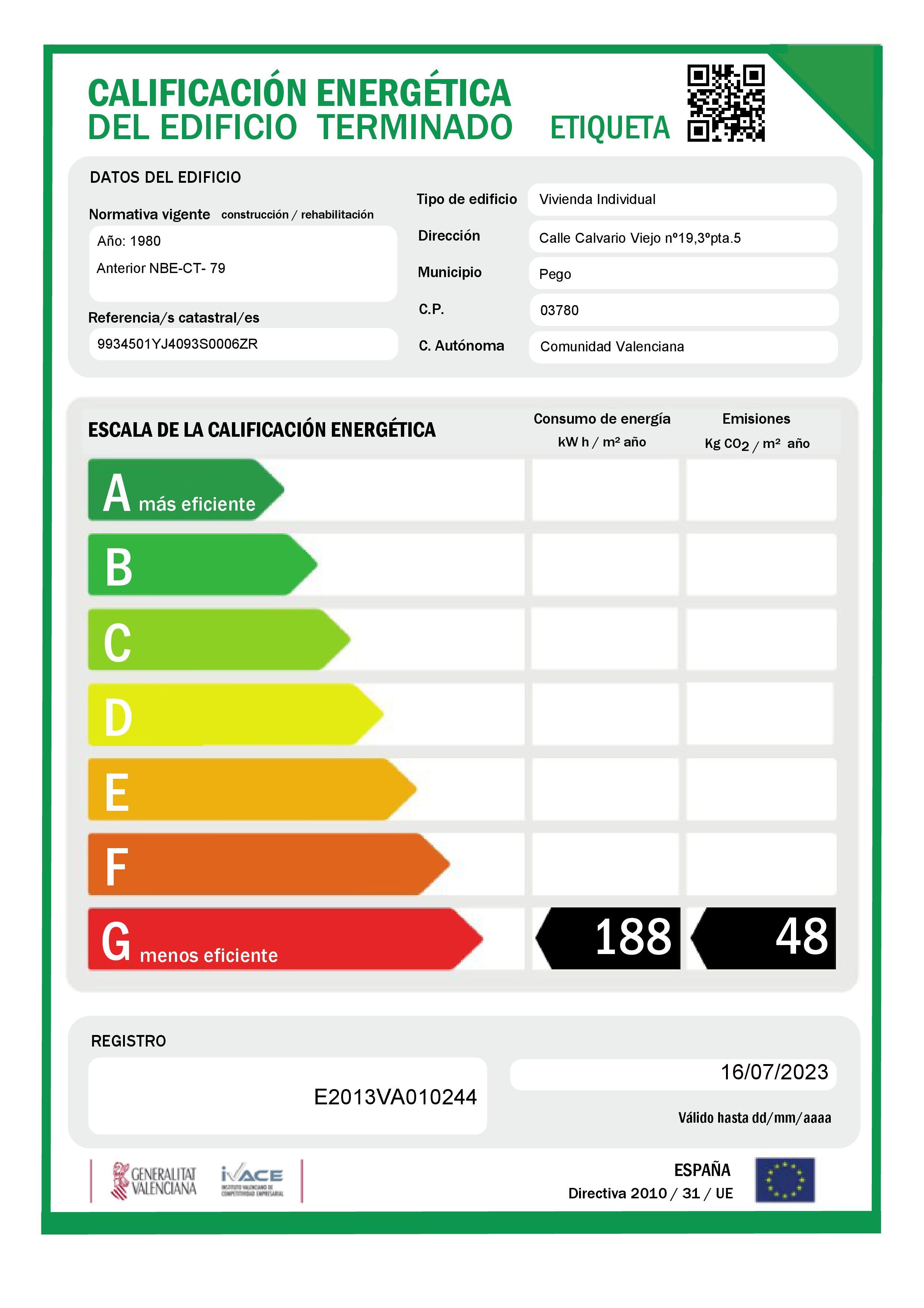 Piso en venta en Piso en Pego, Alicante, 44.000 €, 4 habitaciones, 2 baños, 122 m2