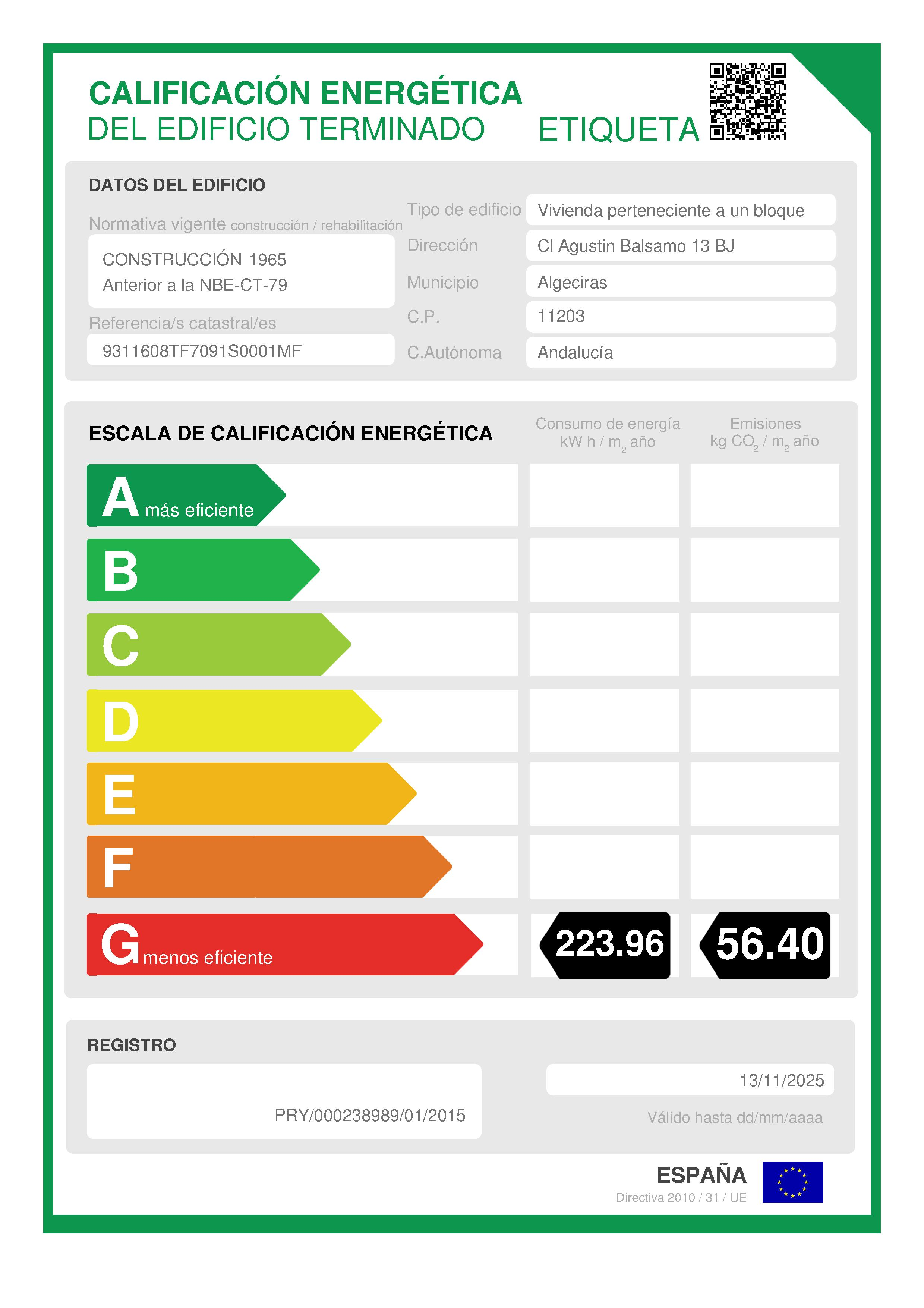 Piso en venta en Algeciras, Cádiz, Calle Agustin Balsamo, 65.500 €, 2 habitaciones, 1 baño, 59 m2