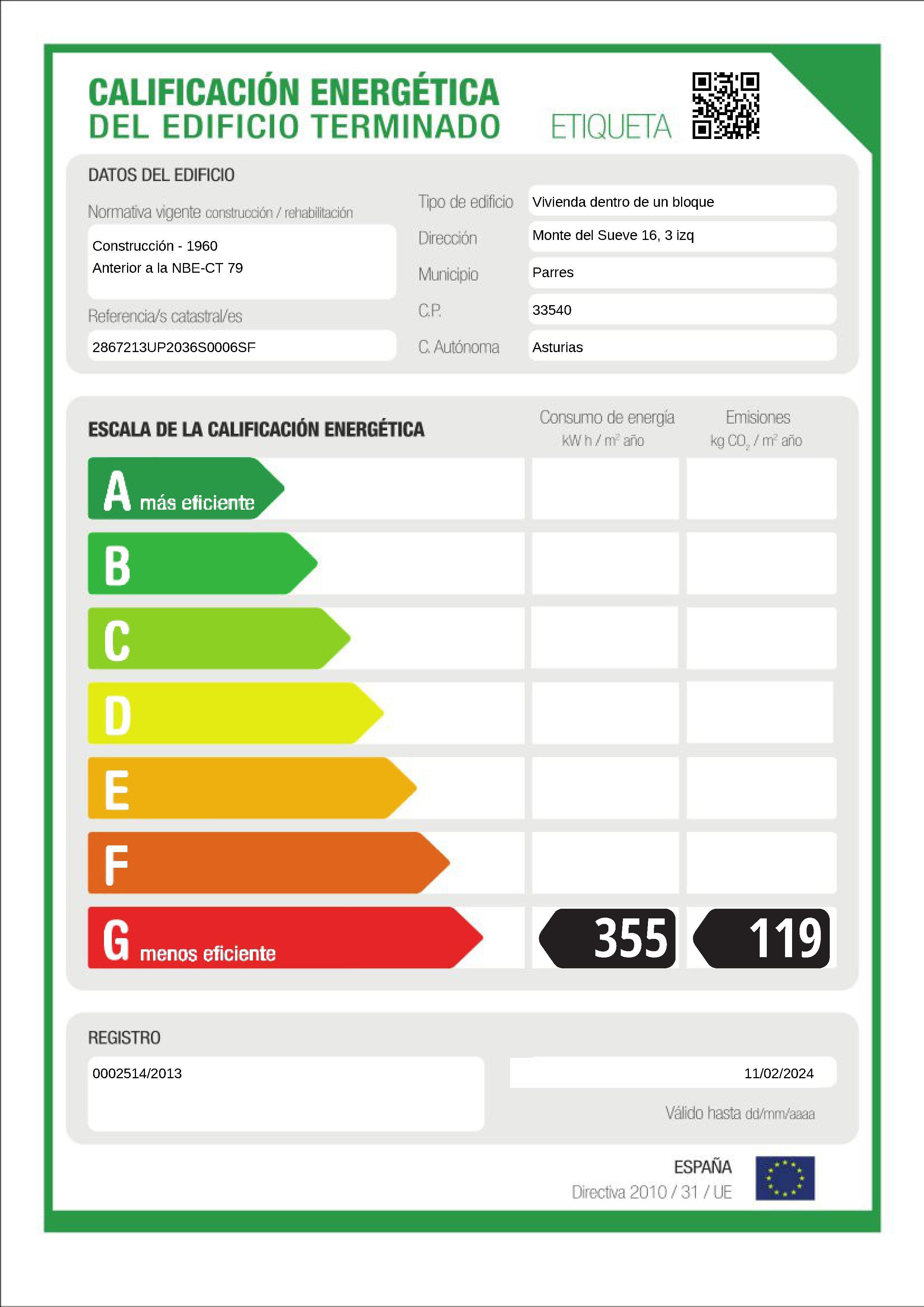 Piso en venta en Parres, Asturias, Calle Monte Sueve, 48.500 €, 3 habitaciones, 1 baño, 74 m2