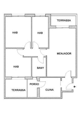 Piso en venta en Piso en Salt, Girona, 131.400 €, 3 habitaciones, 1 baño, 78 m2