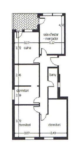 Piso en venta en Piso en Cervera, Lleida, 44.600 €, 3 habitaciones, 1 baño, 100 m2