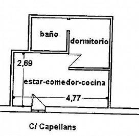 Piso en venta en Piso en Palma de Mallorca, Baleares, 97.500 €, 1 habitación, 1 baño, 27,73 m2