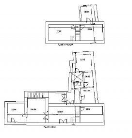 Casa en venta en Casa en Porcuna, Jaén, 60.500 €, 5 habitaciones, 1 baño, 172 m2