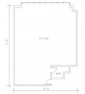 Oficina en venta en Oficina en Terrassa, Barcelona, 51.000 €, 107 m2