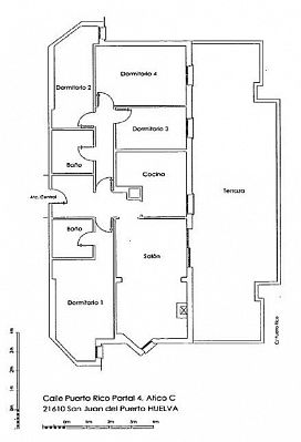 Piso en venta en Piso en San Juan del Puerto, Huelva, 36.800 €, 3 habitaciones, 117 m2