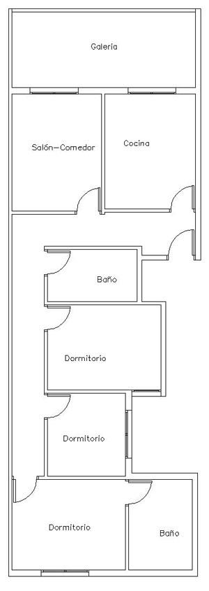 Piso en venta en Ordes, A Coruña, Calle Mediodia, 49.000 €, 3 habitaciones, 1 baño, 104 m2