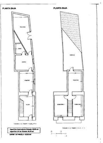 Casa en venta en Bedmar Y Garcíez, Jaén, Calle Ramon Y Cajal, 31.185 €, 3 habitaciones, 1 baño, 89 m2