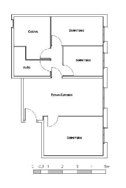 Piso en venta en La Salut, Badalona, Barcelona, Calle Joan Valera, 75.525 €, 3 habitaciones, 1 baño, 68 m2