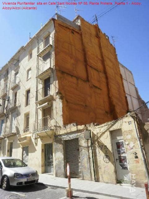 Piso en venta en Zona Alta, Alcoy/alcoi, Alicante, Calle Sant Nicolau, 18.400 €, 1 habitación, 1 baño, 40 m2