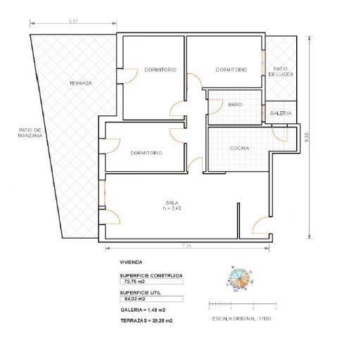 Piso en venta en La Bordeta, Lleida, Lleida, Calle Reus, 64.500 €, 3 habitaciones, 1 baño, 82 m2