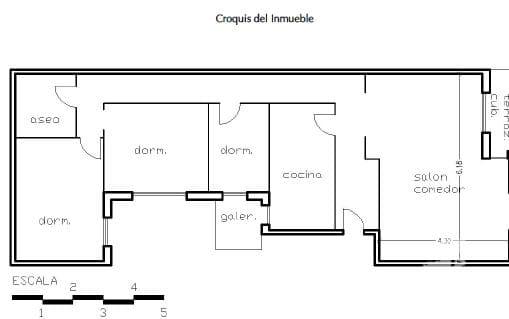 Piso en venta en Piso en Agost, Alicante, 51.975 €, 3 habitaciones, 1 baño, 107 m2
