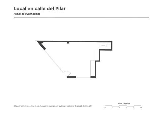 Local en venta en Vinaròs, Castellón, Calle del Pilar, 33.400 €, 38 m2
