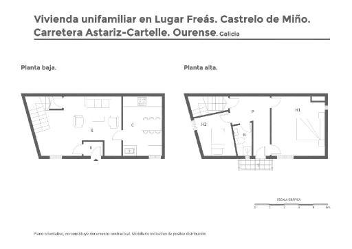 Casa en venta en Castrelo de Miño, Ourense, Carretera Astariz-cartelle, 35.450 €, 3 habitaciones, 1 baño, 87 m2