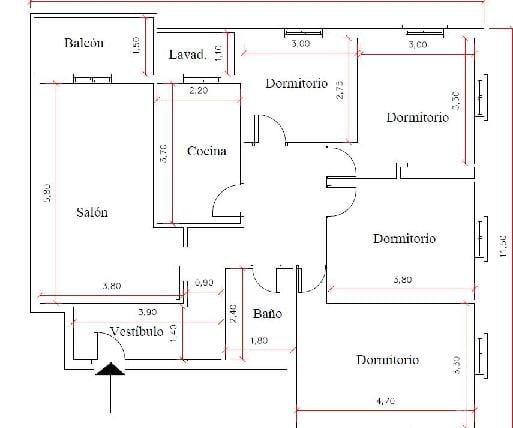 Piso en venta en Piso en San Javier, Murcia, 82.800 €, 4 habitaciones, 1 baño, 124 m2