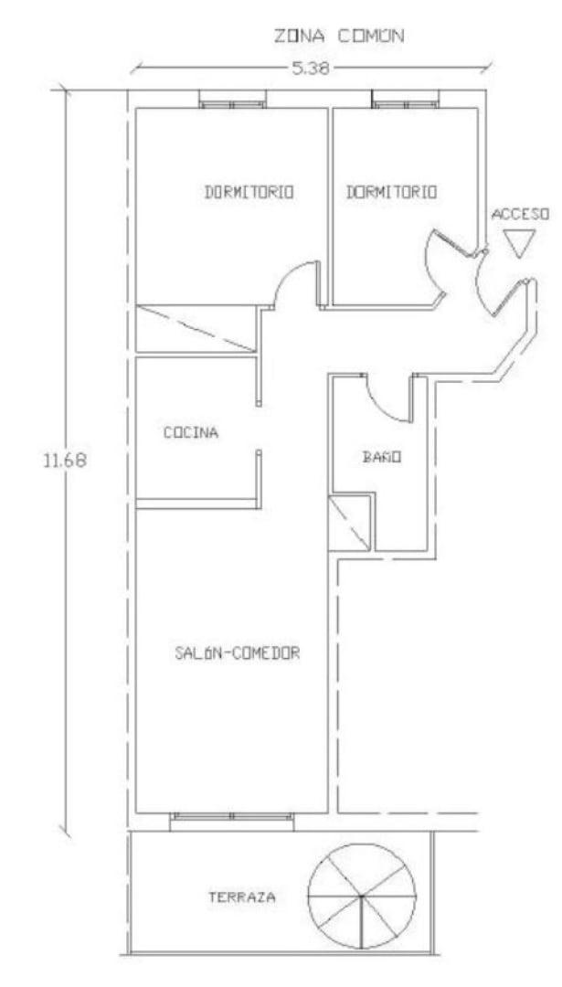 Piso en venta en Amposta, Tarragona, Calle Eucaliptus, 62.400 €, 2 habitaciones, 1 baño, 55 m2