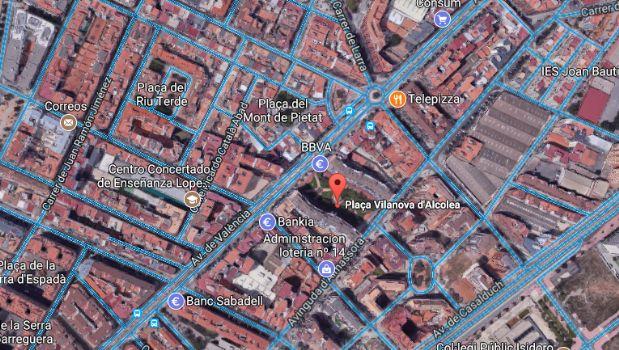 Piso en venta en Castellón de la Plana/castelló de la Plana, Castellón, Plaza Vilanova D`alcolea, 69.500 €, 2 habitaciones, 1 baño, 80 m2