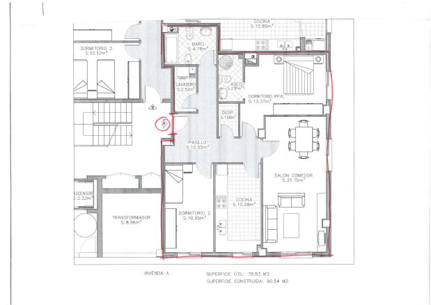 Piso en venta en Piso en Torre del Campo, Jaén, 100.000 €, 2 habitaciones, 2 baños, 90,54 m2