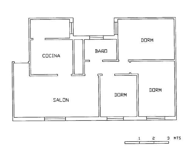 Piso en venta en Lepe, Huelva, Calle Canarias, 33.640 €, 3 habitaciones, 1 baño, 71 m2