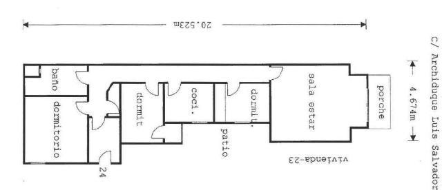Piso en venta en Palma de Mallorca, Baleares, Calle Arxiduc Lluis Salvador, 181.200 €, 3 habitaciones, 1 baño, 107 m2