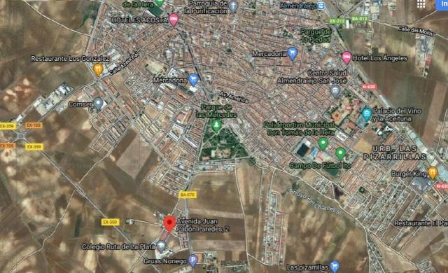 Suelo en venta en San Marcos, Almendralejo, Badajoz, Avenida Juan Pavon Paredes, 186.032 €, 3249 m2