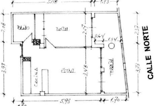 Piso en venta en Zaragoza, Zaragoza, Calle Norte, 99.500 €, 1 habitación, 1 baño, 53 m2