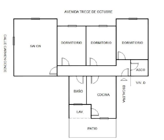 Piso en venta en Los Alcázares, Murcia, Calle Carmen Conde, 76.700 €, 3 habitaciones, 2 baños, 108 m2