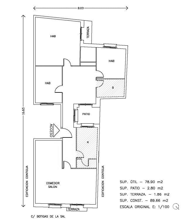 Piso en venta en Bítem, Tortosa, Tarragona, Calle Botigues de la Sal (de Les), 26.700 €, 3 habitaciones, 1 baño, 92 m2