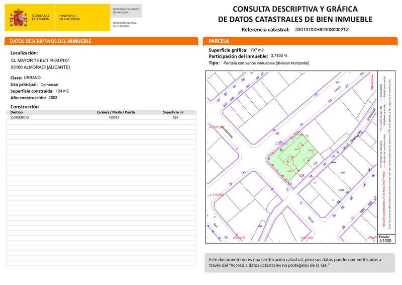 Local en venta en Coto de Caza, Almoradí, Alicante, Calle Mayor, 58.000 €, 124 m2