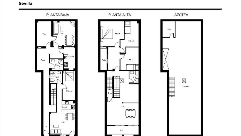 Casa en venta en Sevilla, Sevilla, Calle Camino de los Rojas, 128.000 €, 5 habitaciones, 3 baños, 150 m2