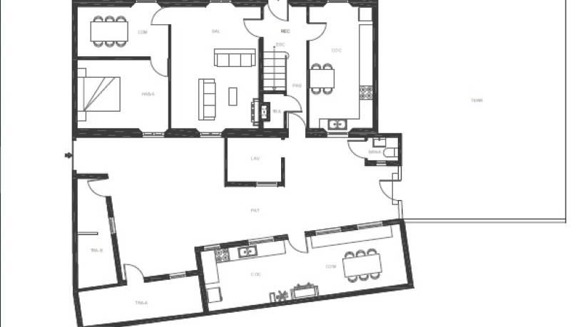 Casa en venta en A Laracha, A Coruña, Calle la Botica, 115.360 €, 5 habitaciones, 1 baño, 220 m2