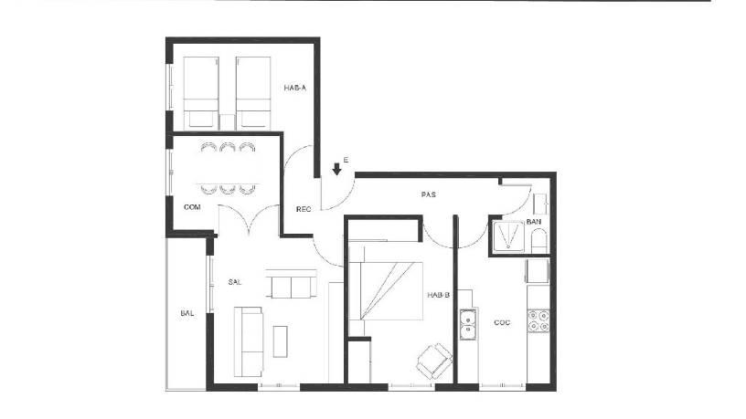 Piso en venta en Molina de Segura, Murcia, Plaza Region Murciana, 56.600 €, 3 habitaciones, 1 baño, 89 m2