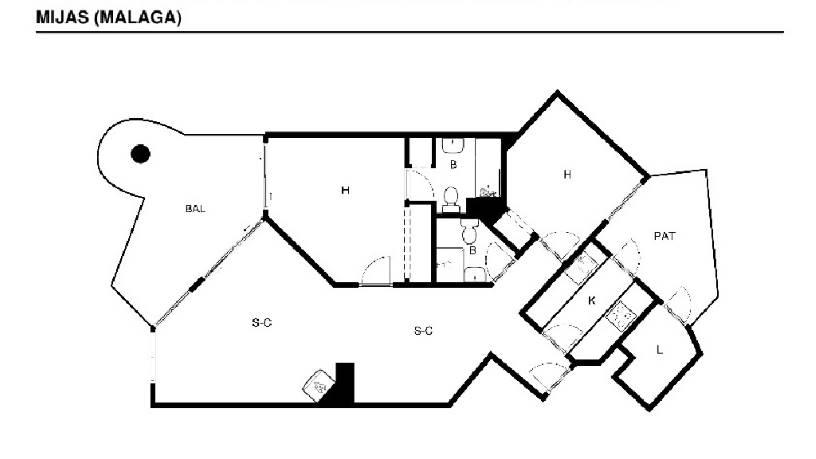 Piso en venta en Urbanización Sitio de Calahonda, Mijas, Málaga, Calle Jose Orbaneja.conjt. El Puente, 139.000 €, 2 habitaciones, 2 baños, 82 m2