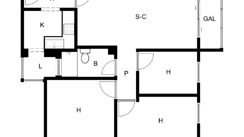Piso en venta en Alcalá de Guadaíra, Sevilla, Calle Pintor Garcia Ramos S/n, 65.600 €, 1 habitación, 1 baño, 94 m2
