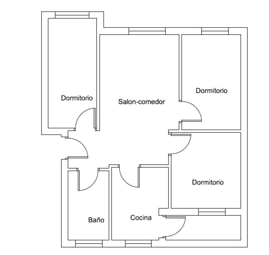 Piso en venta en Valencia, Valencia, Plaza Colonia Española de Mejico, 42.147 €, 2 habitaciones, 1 baño, 59 m2